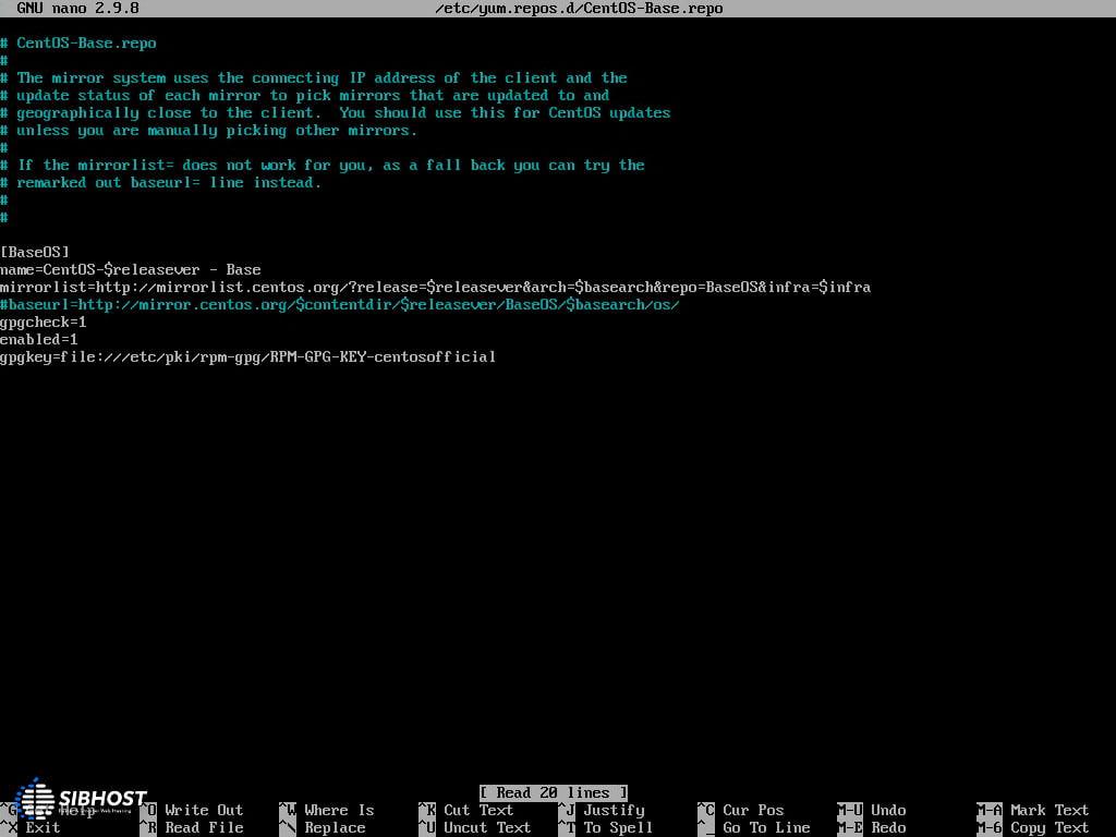 لیست میرور لینوکس قبل از تغییر